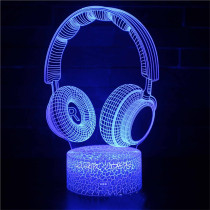 3D Musical Instrument Series Night Light Seven Colors Touch LED Lamps With Remote Control