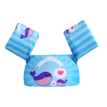 Toddler Kids Blue Whale Swim Vest with Arm Wings Floats Life Jacket