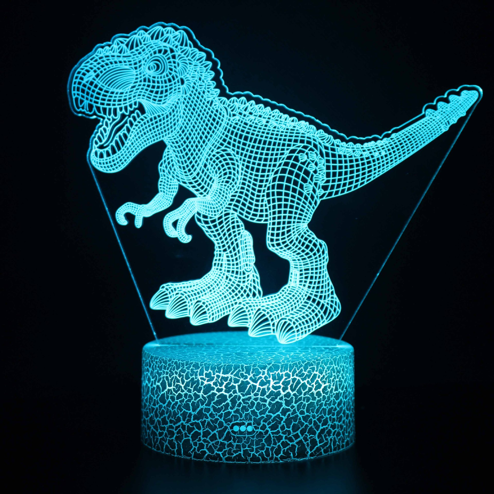 3D Dinosaur Series Night Light LED Lamps Seven Colors Touch Lamps With Remote Control