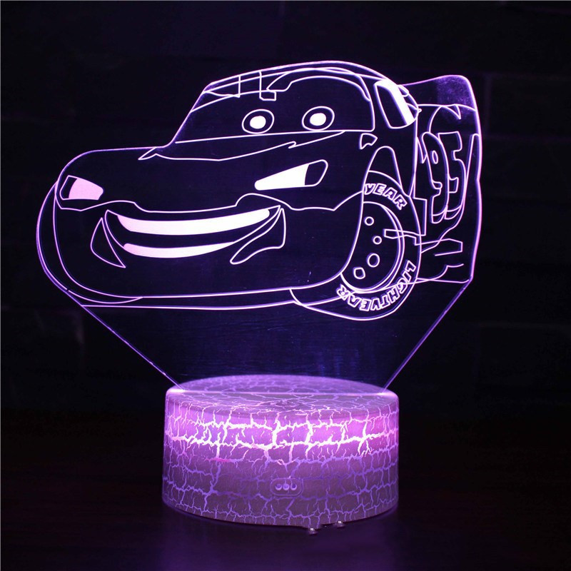 Cars Series 3D Night Light LED Lamps Seven Colors Touch Lamps With Remote Control