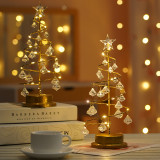 Night Light Crystal Diamond Star Christmas Tree Lights