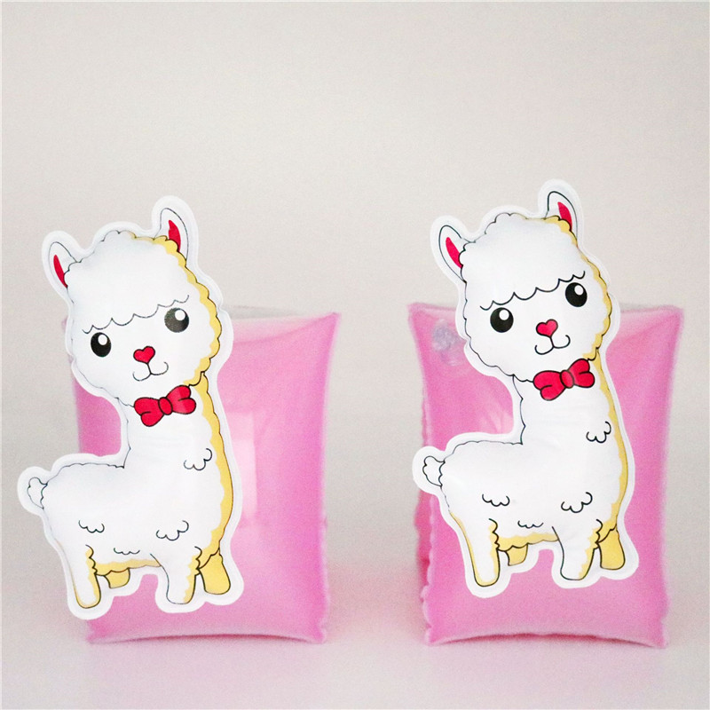 Toddler Kids Float Inflatable Pink Sheep Arm Rings For Swimming