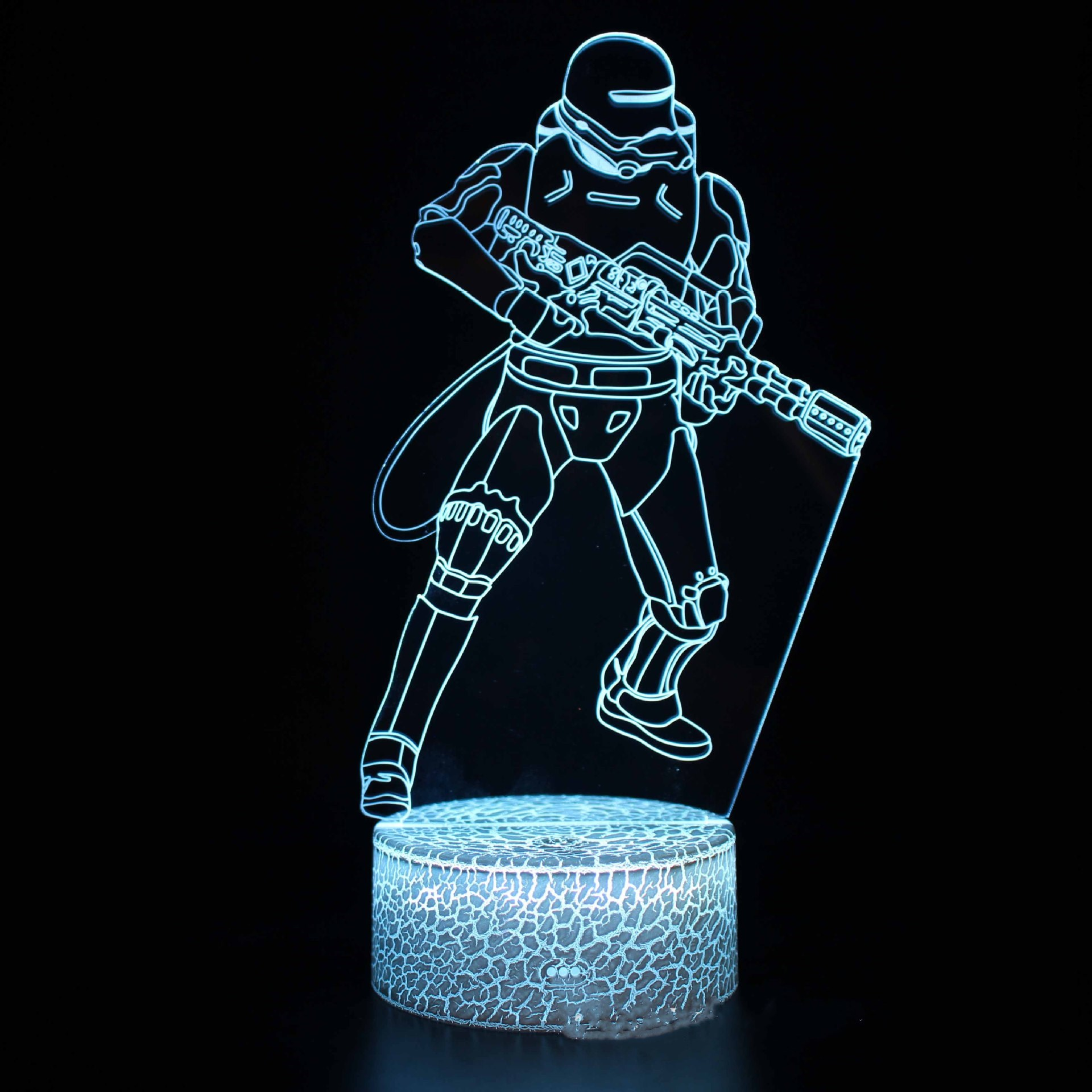 3D Game Star Wars Night Light Seven Colors Touch LED With Remote Control