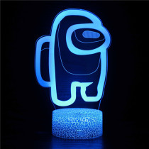 3D Game Among Us Night Light Seven Colors Touch LED Lamps With Remote Control