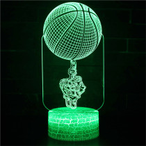 3D NBA Basketball Series Night Light LED Lamps Seven Colors Touch Lamps With Remote Control