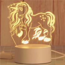 3D Teady Bear Unicorn Rabbit Bedroom Night Light