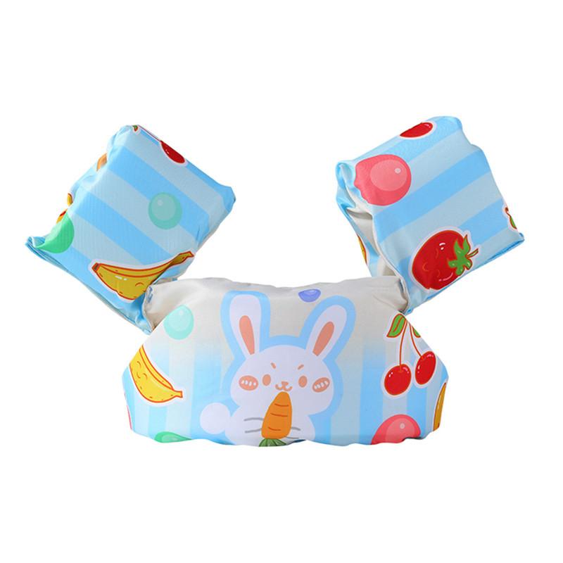 Toddler Kids Swim Vest with Arm Wings Floats Life Jacket Print Fruit Rabbit
