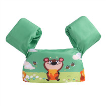 Toddler Kids Print Bear Honey Bee Swim Vest with Arm Wings Floats Life Jacket