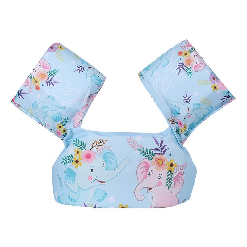 Toddler Kids Swim Vest with Arm Wings Floats Life Jacket Print Elephant