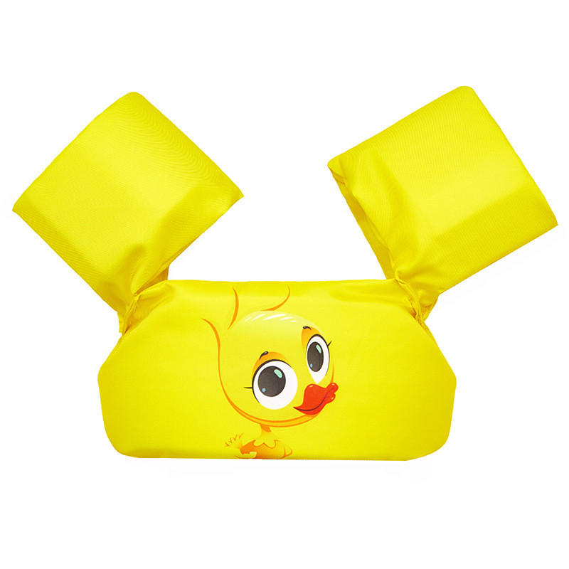 Toddler Kids Print Yellow Duck Swim Vest with Arm Wings Floats Life Jacket
