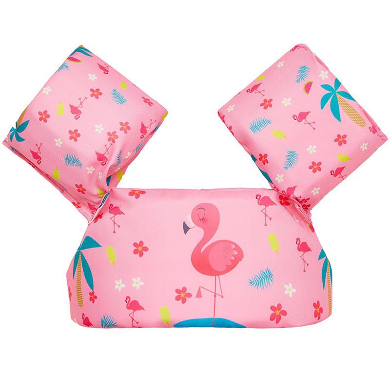 Toddler Kids Print Flamingo Swim Vest with Arm Wings Floats Life Jacket
