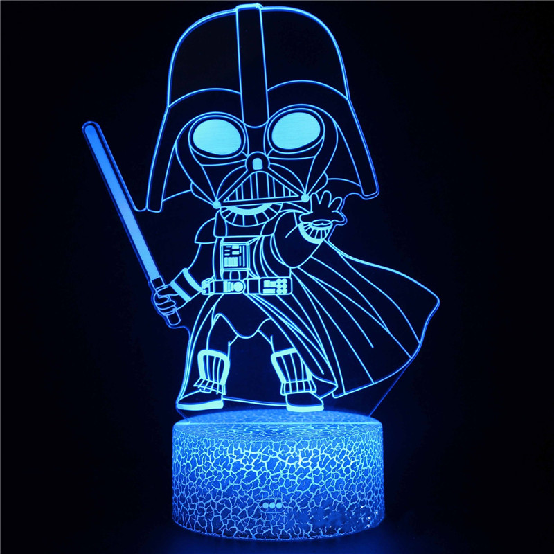 Star Wars 3D Night Light LED Lamps Seven Colors Touch LED With Remote Control