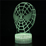 Spiderman 3D Night Light LED Lamps Seven Colors Touch LED With Remote Control