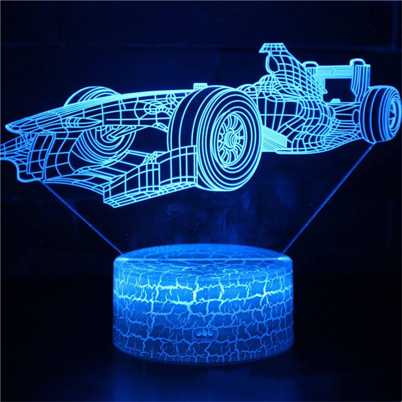 3D Cute Car Train Series Night Light LED Lamps Seven Colors Touch Lamps With Remote Control