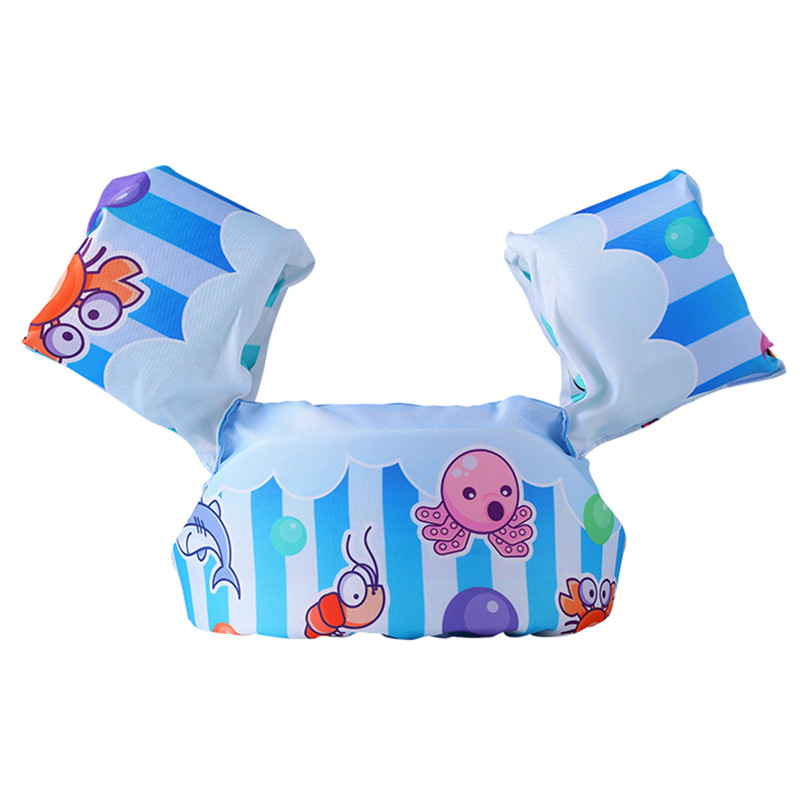 Toddler Kids Swim Vest with Arm Wings Floats Life Jacket Print the Underwater World