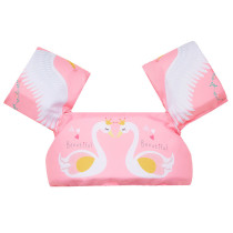 Toddler Kids Print Swan Swim Vest with Arm Wings Floats Life Jacket