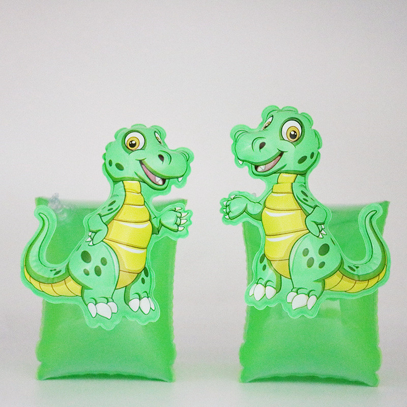 Toddler Kids Float Inflatable Green Crocodile Arm Rings For Swimming