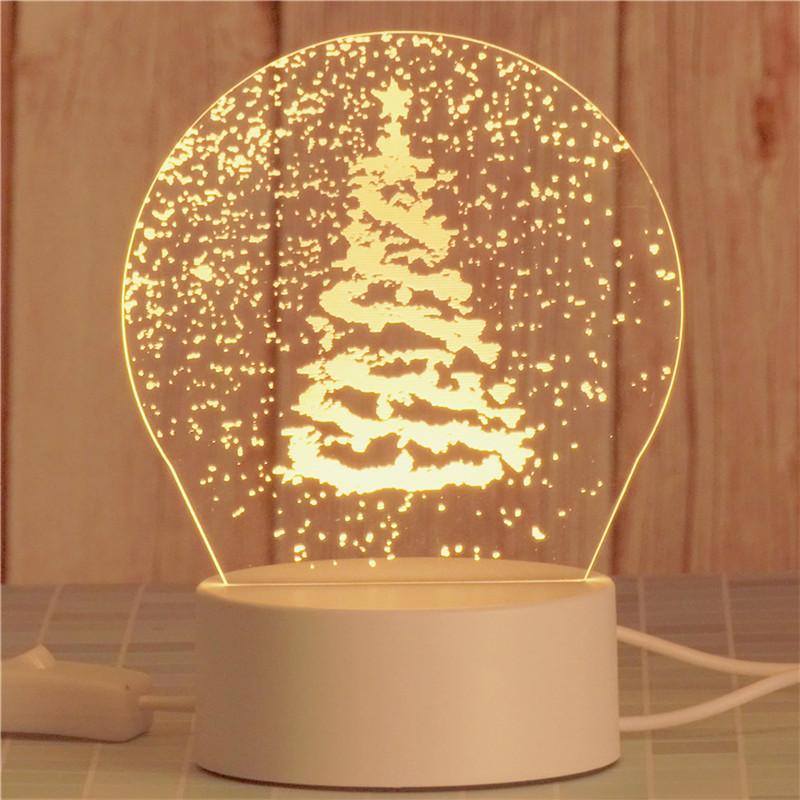 3D Merry Christmas Santa Claus Bedroom Night Light