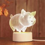 3D Bear Deer Heart  USB Bedroom Night Light