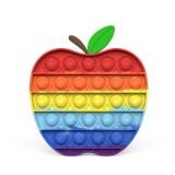 Rainbow Apple Pop It Fidget Toy Push Pop Bubble Sensory Fidget Toy Stress Relief For Kids & Adult