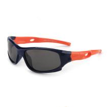 Kids UV Protection TPEE Rubber Polarized Light Silicone Sunglasses Orange Frame