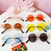 Kids Round Fashion Anti-UV Protection Tinted Sunglasses