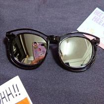 Kids Color Film Anti-UV Protection Fashion Sunglasses White Frame