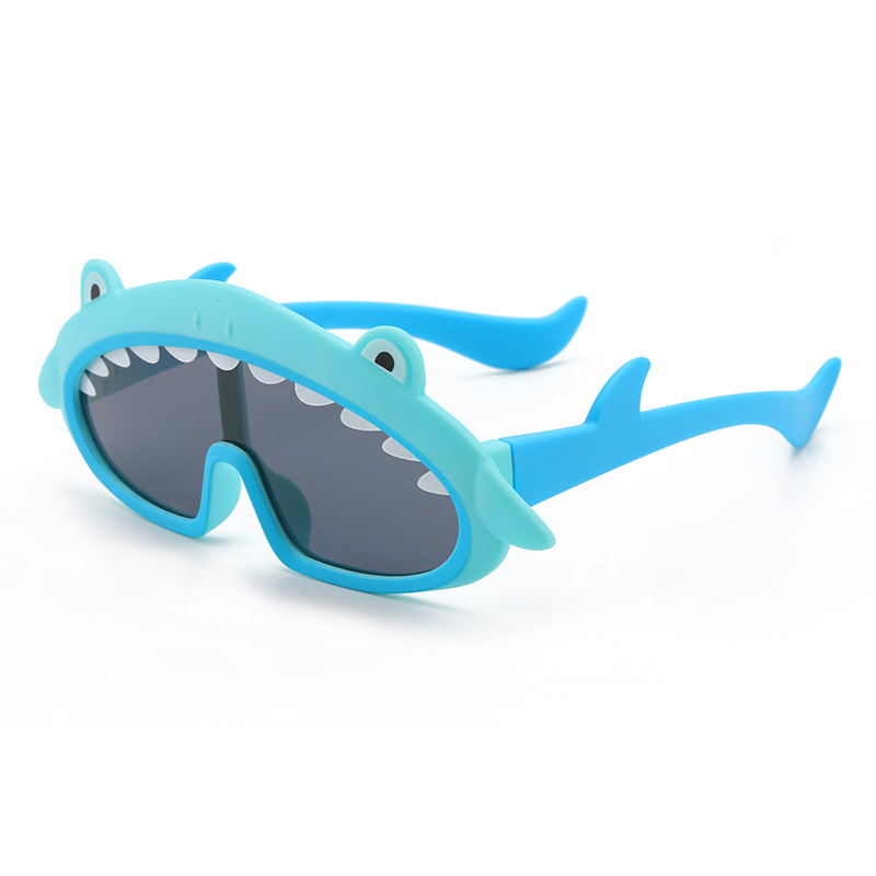 Kids Shark Shaped Polarized Silicone Sunglasses