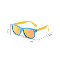 Kids UV Protection TPEE Rubber Polarized Light Tinted Silicone Sunglasses Orange