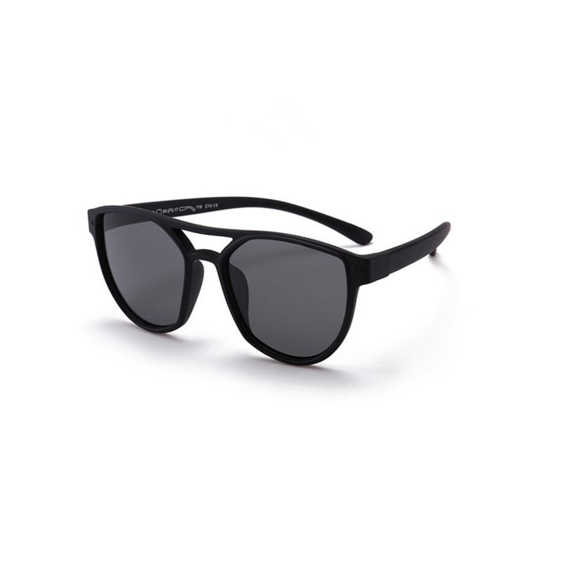 Kids Boys & Girls UV400 Protection Fashion Silicone Sunglasses Black Frame