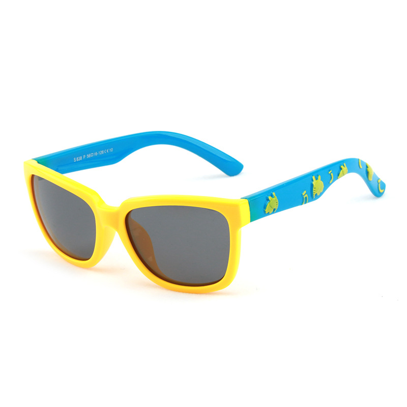 Kids Boys & Girls Anti-UV Protection Splicing Color Silicone Sunglasses