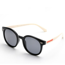 Kids UV400 Protection Tinted Glasses Silicone Sunglasses White Frame