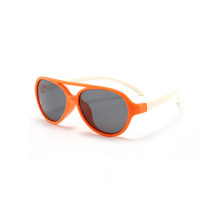 Kids Boys & Girls UV Protection TPEE Rubber Polarized Silicone Toad Sunglasses White Frame