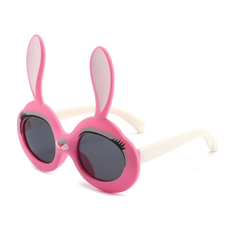 Kids Cute 3D Rabbit UV Protection Polarized Silicone Sunglasses