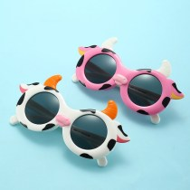 Kids 3D Cow UV Protection Polarized Silicone Sunglasses