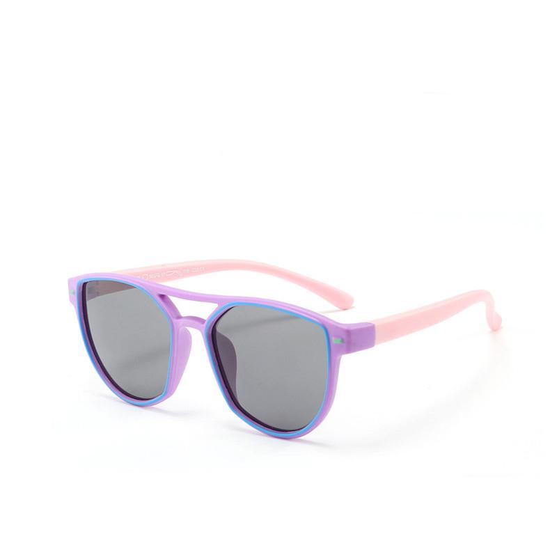 Kids Diamond Shape Silicone Sunglasses Pink Frame
