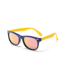Kids UV Protection TPEE Rubber Polarized Light Tinted Silicone Sunglasses Pink