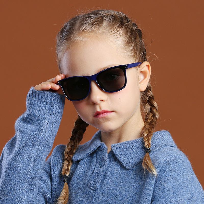 Kids Boys & Girls Square Silicone Polarizer UV Protection Sunglasses