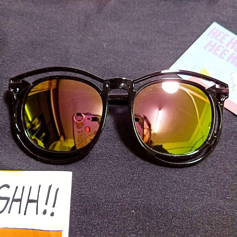 Kids Color Film Anti-UV Protection Fashion Sunglasses Red Frame