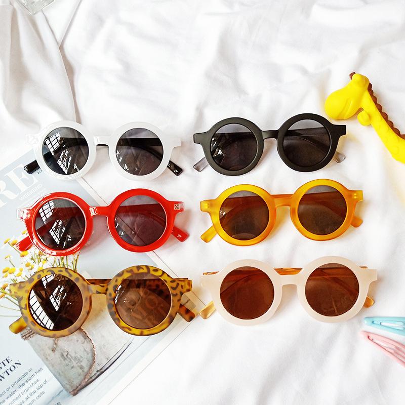 Kids Round Frame Fashion UV400 Sunglasses
