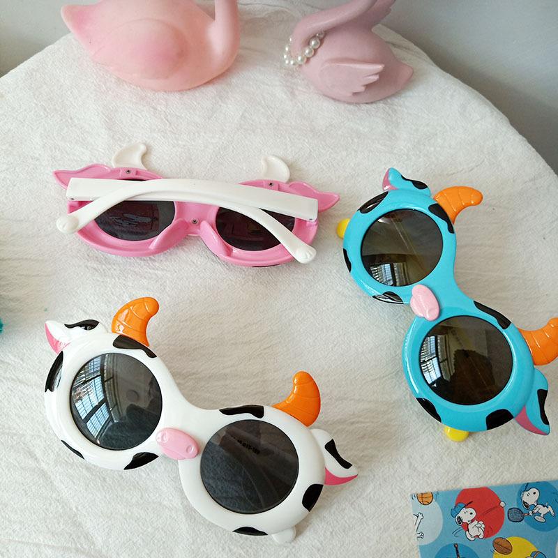 Kids Cartoon Cow Shaped Fashion Anti-UV Protection Sunglasses