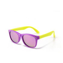 Kids UV Protection TPEE Rubber Polarized Light Tinted Silicone Sunglasses Purple