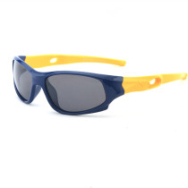 Kids UV Protection TPEE Rubber Polarized Light Silicone Sunglasses Yellow Frame