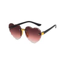 Kids Heart Shaped Progressive Color Anti-UV Protection Fashion Sunglasses