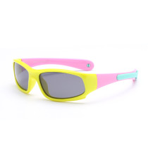 Kids Riding Sports Polarized Silicone Sunglasses Matching Color Adjustable Frame