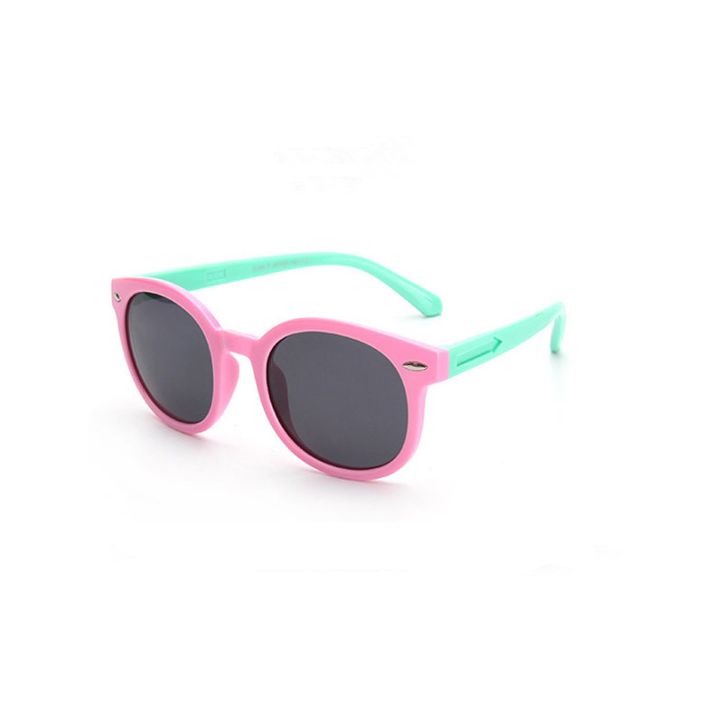 Kids UV Protection Tinted Glasses Silicone Sunglasses Matching Frame