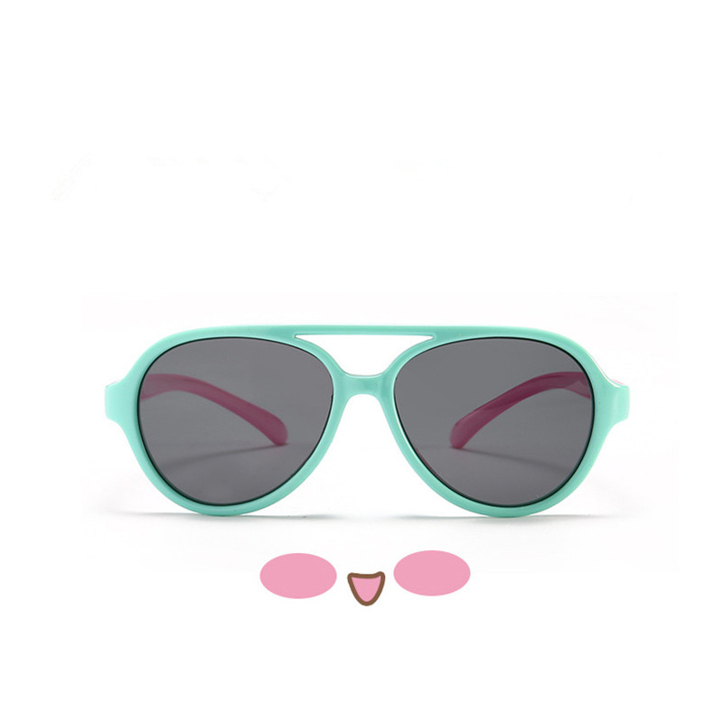 Kids Boys & Girls UV Protection TPEE Rubber Polarized Silicone Toad Sunglasses Pink Frame