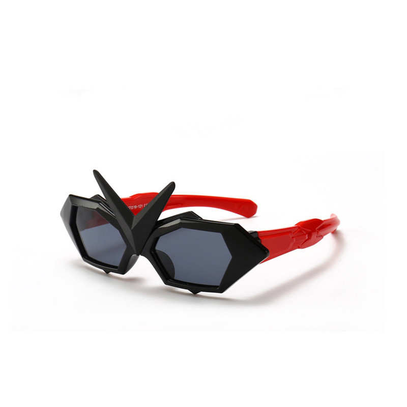Kids Transformers Polarized Silicone Sunglasses Red Frame