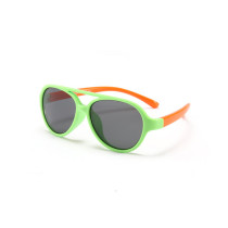 Kids Boys & Girls UV Protection TPEE Rubber Polarized Silicone Toad Sunglasses Orange Frame