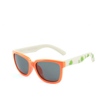 Kids Boys & Girls Anti-UV Protection Splicing Color Silicone Sunglasses White Frame